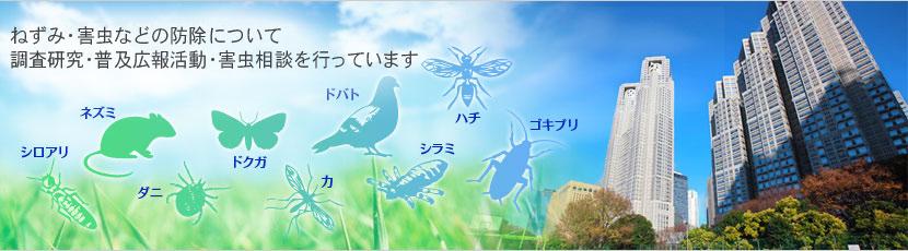 ねずみ・害虫などの防除について調査研究・啓蒙活動・害虫相談を行っています